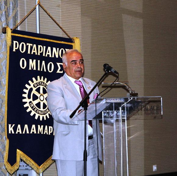 Ο Πρόεδρος κ. Μπρακόπουλος στην τελευταία του ομιλία